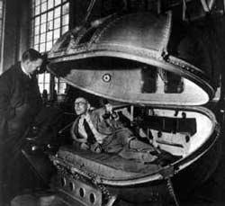 Testing Churchill's pressure chamber