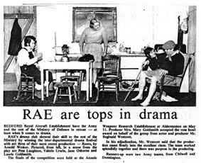 Newspaper clipping: RAE are tops in drama