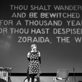 'Thou shalt wander and be bewitched', setup for BFI Vault (photo Gaynor Perry)