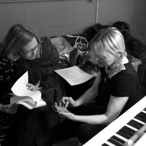 Emma Kilbey and Jenny Angliss at Vault rehearsals (photo Gaynor Perry)