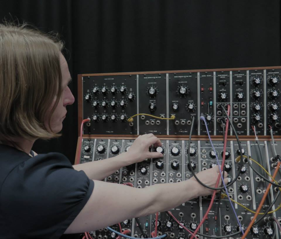 Sarah Angliss with System 55 in Moog Sound Lab