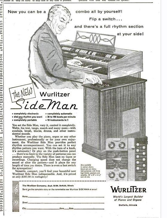 The Wurlitzer Sideman (The Billboard, May 1960)