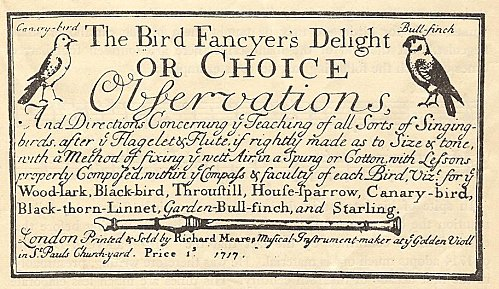 The Bird Fancyer's Delight frontispiece