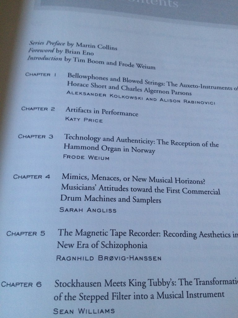 Material Culture and Electronic Sound chapter list