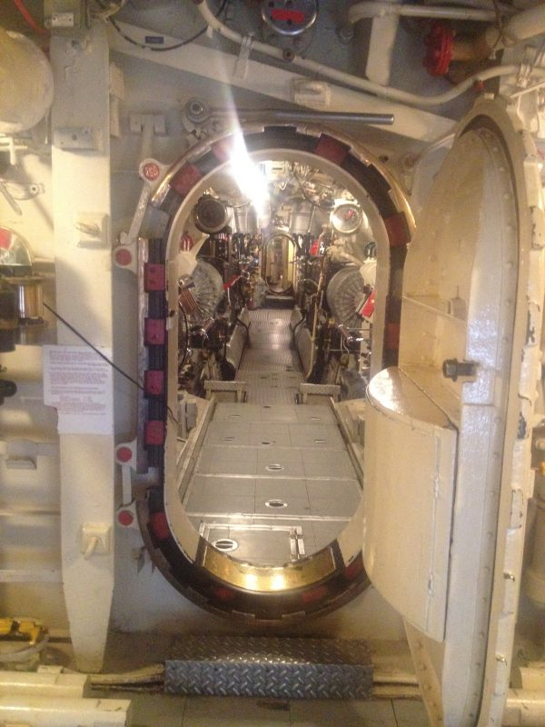 HMS Alliance - looking into the engine room