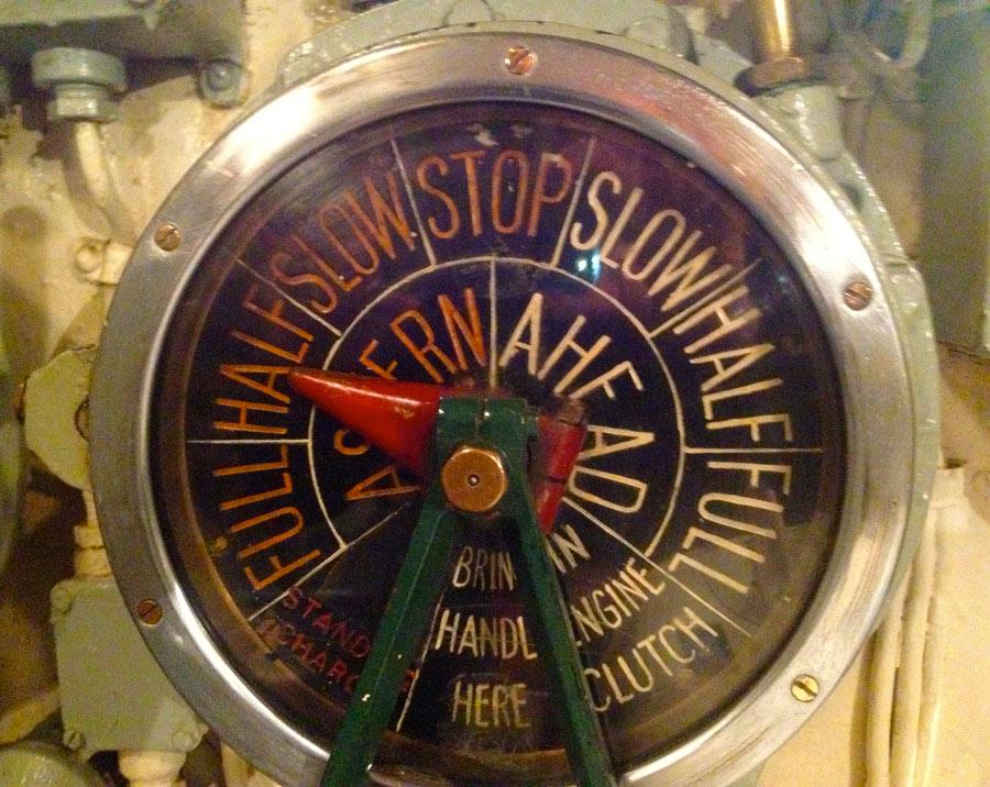 HMS Alliance ship's telegraph