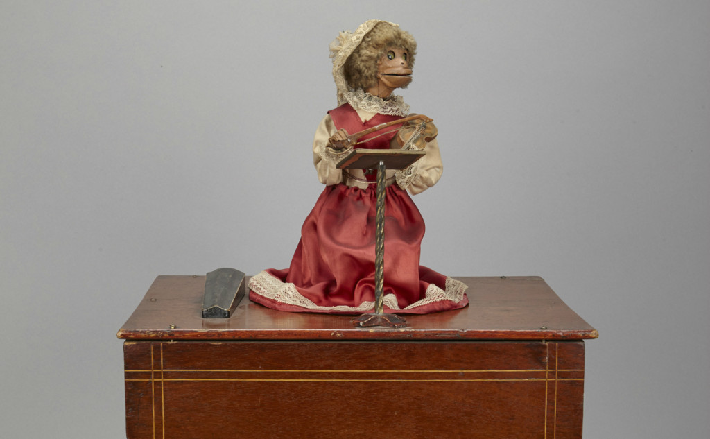 Fiddle playing monkey, from the collections of Birmingham Museums Trust