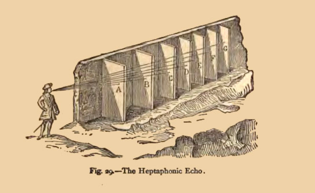 Listening to a heptaphonic echo.