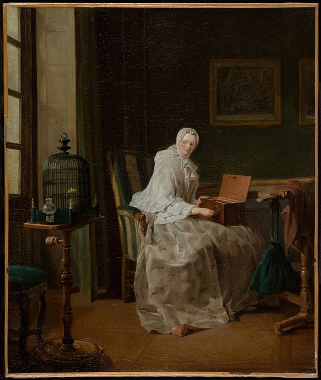 The Bird-Song Organ or Lady Varying Her Amusements (JBS Chardin, 1751)