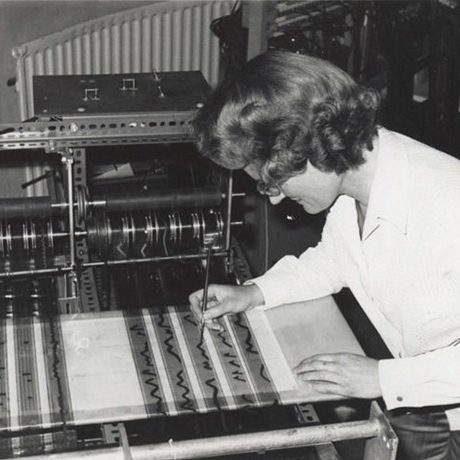 Daphne Oram at the Oramics Machine
