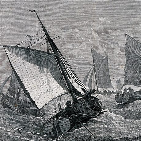 Sailors on a choppy sea Wellcome Trust - CH Andrews)