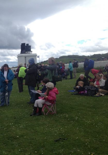 Waiting for the Foghorn Requieum to start, Souter, 22 June 2013